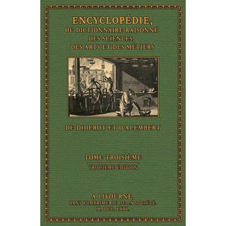 Diderot/ d Alembert: Encyclopédie - Texte, Volume 3: CH - CONS