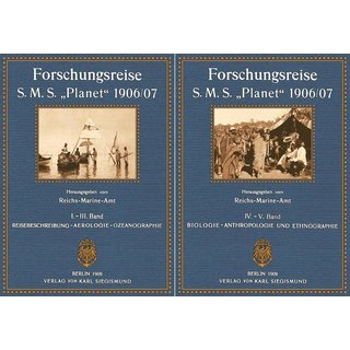 Reichs-Marine-Amt: Forschungsreise S.M.S. Planet - Band 1 - 5