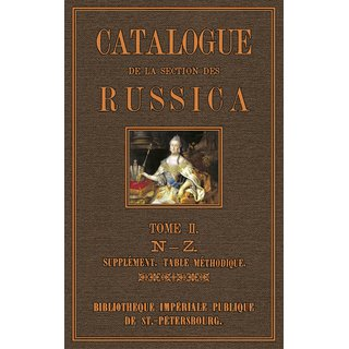 Catalogue  des  Russica - 2
